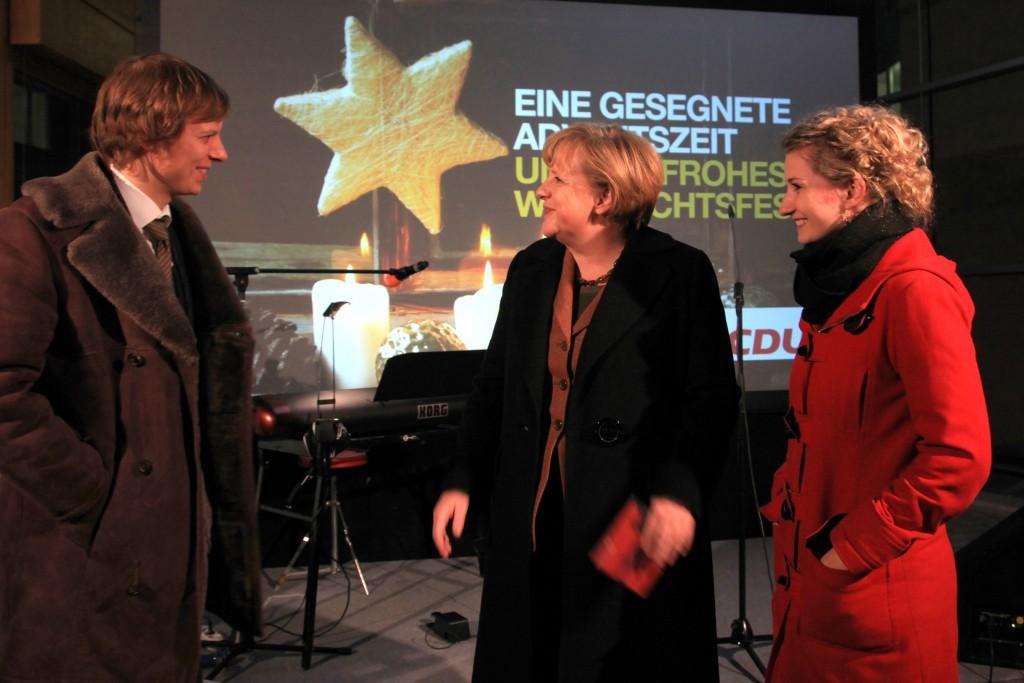 Sängerin Berlin Anne Fraune Angela Merkel Konrad Adenauer Haus