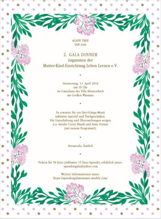 Spenden-Gala Berlin Anne Fraune